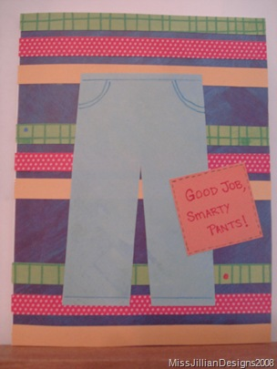 It Must Be in the Jeans - graduation card - front
