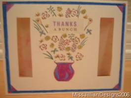 Thank you card - front - 2006, maybe April
