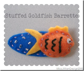 Stuffed Goldfish Barrette