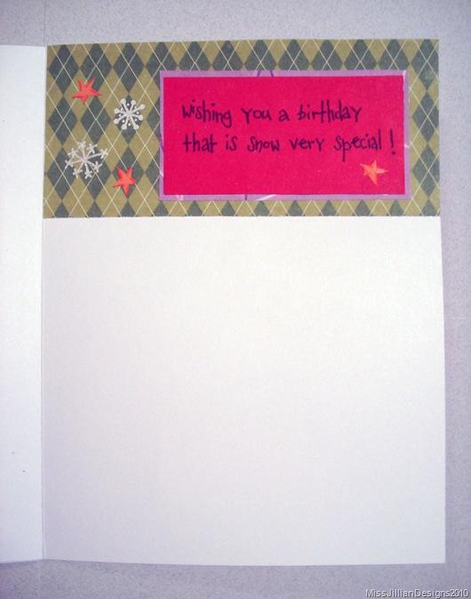 Birthday Card - Snowy Birthday - Inside