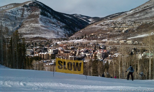 Born Free run with city of Vail in the background taken by my love