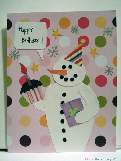 Birthday Card - Snowy Birthday - Front