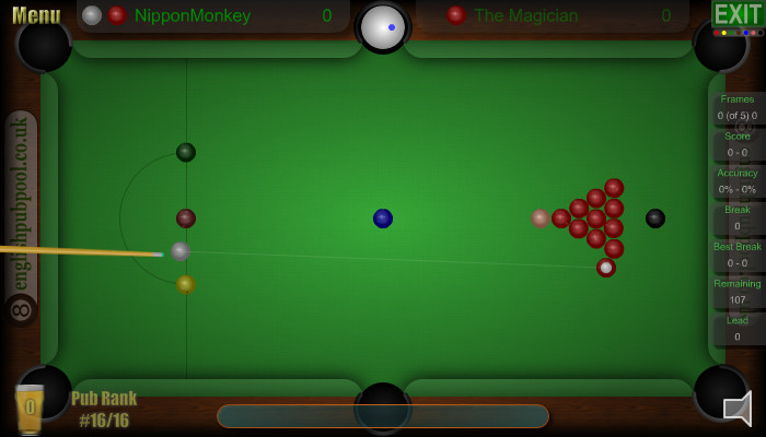 Snooker Break - Pub Snooker - Screen Shot