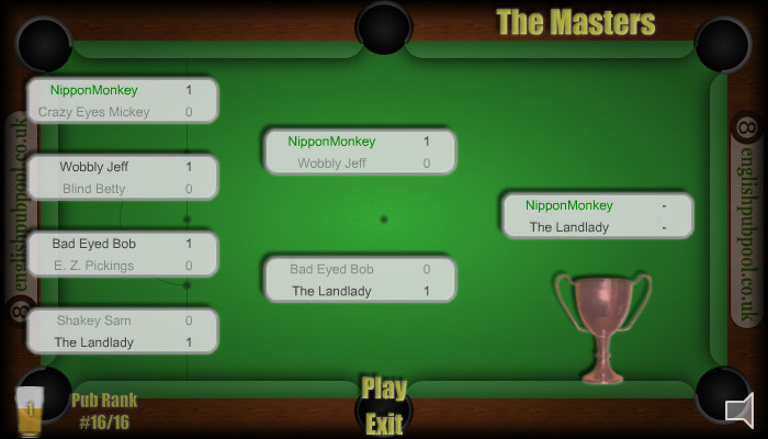 Pub Snooker - Easy Tournament