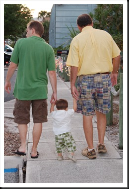 walking with dad and pop