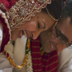 ...a little fun. by Joseph Quartson - Wedding Bride & Groom ( wedding, indian, bride, ceremony, groom, smiles )
