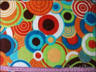 retro circles minky