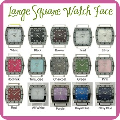 Large Square Watch Face