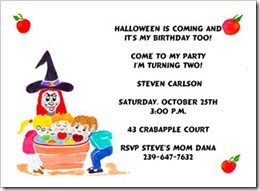 Invitation Halloween