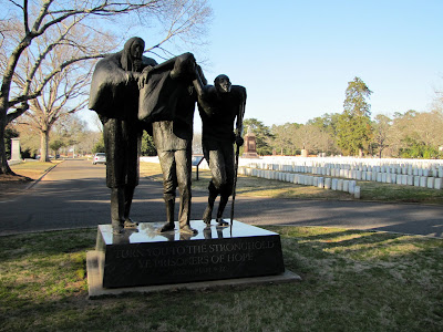 Entrance to Andersonville National Cemetery Statue