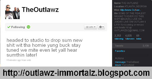 Young Buck & The Outlawz Cooking Somthing In The Studio!!! Outlawzbucktwitter
