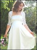 vestido de novia para embarazadas tres