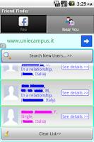 Screenshot of Friend Finder