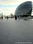 Egg and a Egg Shaped Building on the Thames Riverside, Tarun Chandel Photoblog