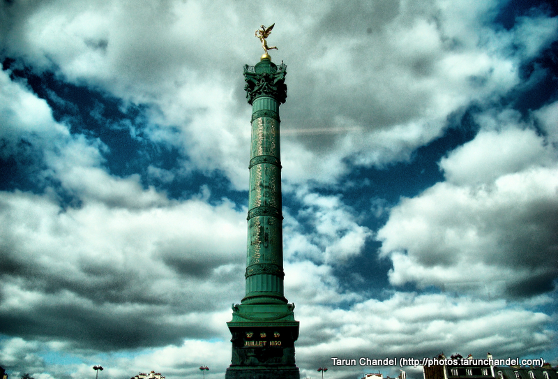 Place de la Bastille Colonne de Juillet Paris France, Tarun Chandel Photoblog