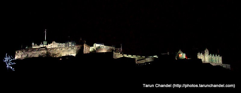 Edinburgh Castle from Princess Street, Tarun Chandel Photoblog