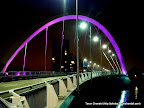 clyde arc changing color glasgow, Tarun Chandel Photoblog