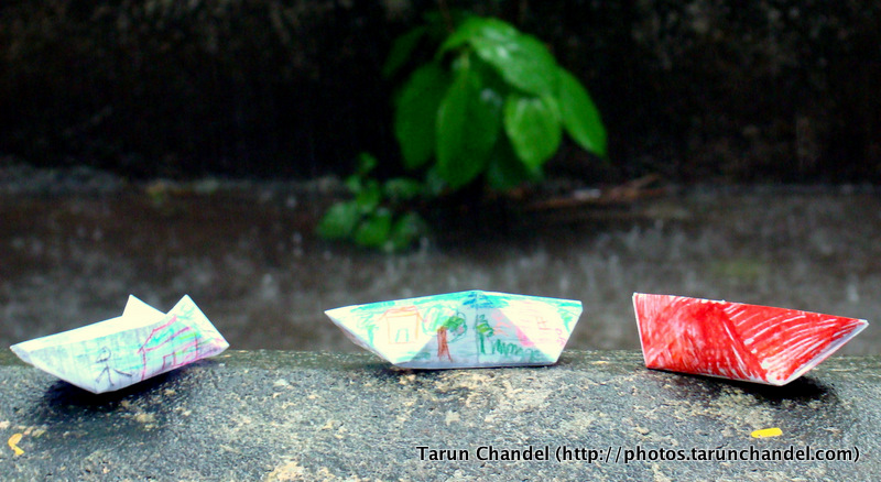 Rainy Day Paper Boats, Tarun Chandel Photoblog