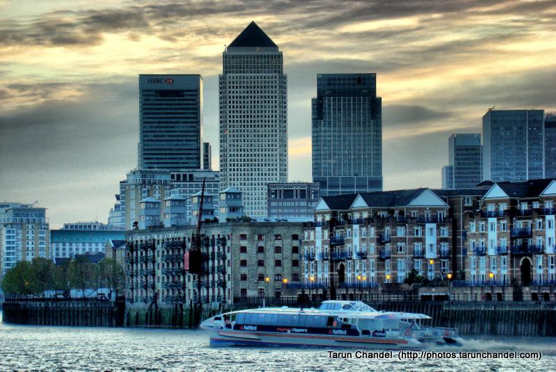 Canary Wharf Thames Riverside HDR, Tarun Chandel Photoblog