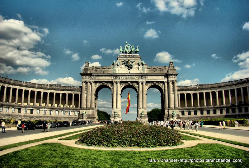 Cinquantenaire Triumphal Arc Arc of Triumph Brussels Belgium Brussels, Tarun Chandel Photoblog