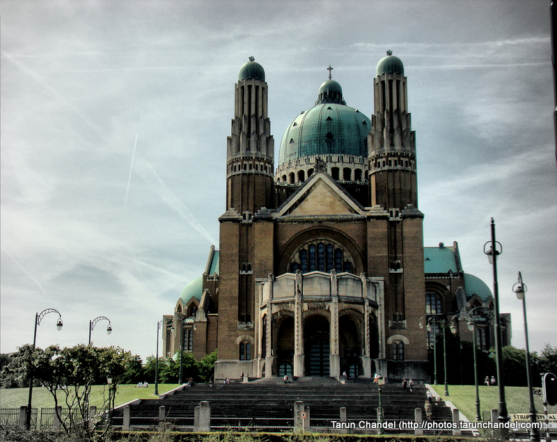 Basilica of the Sacred Heart Brussels Belgium Front View, Tarun Chandel Photoblog