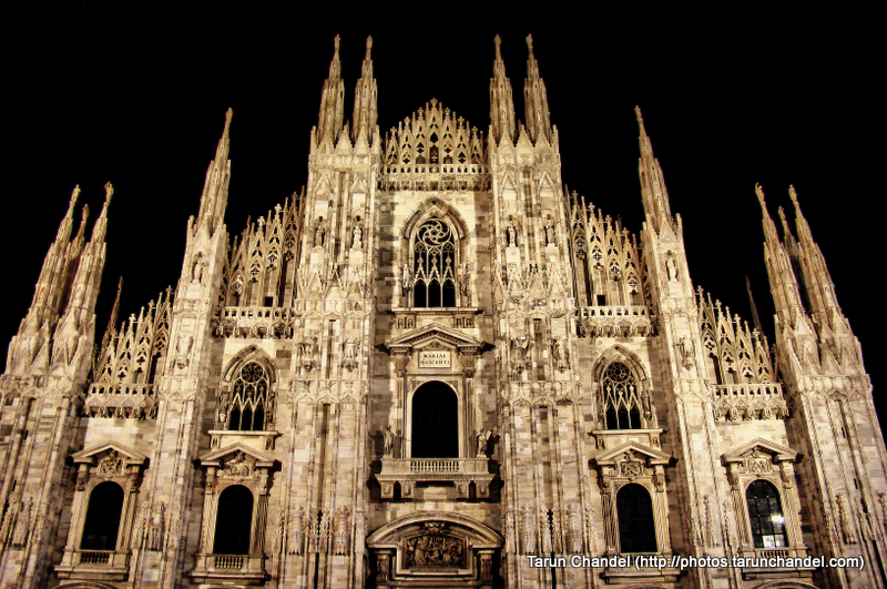 Night Milan Duomo Milan Cathedral Night Milan Italy, Tarun Chandel Photoblog