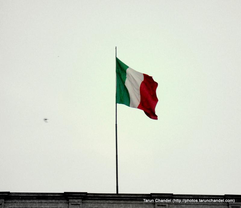 Italian Flag Milan Italy, Tarun Chandel Photoblog
