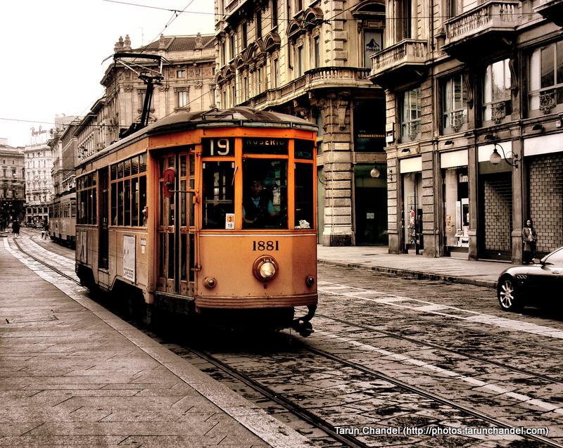 Milan Tram Milan Italy, Tarun Chandel Photoblog
