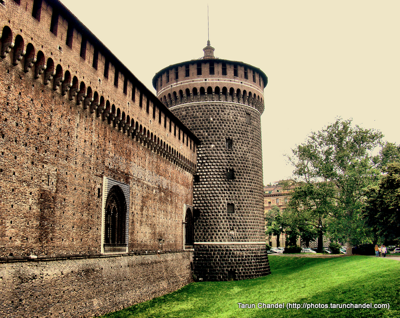 Castello Sforzesco Sforza Castle Tower Milan Italy, Tarun Chandel Photoblog