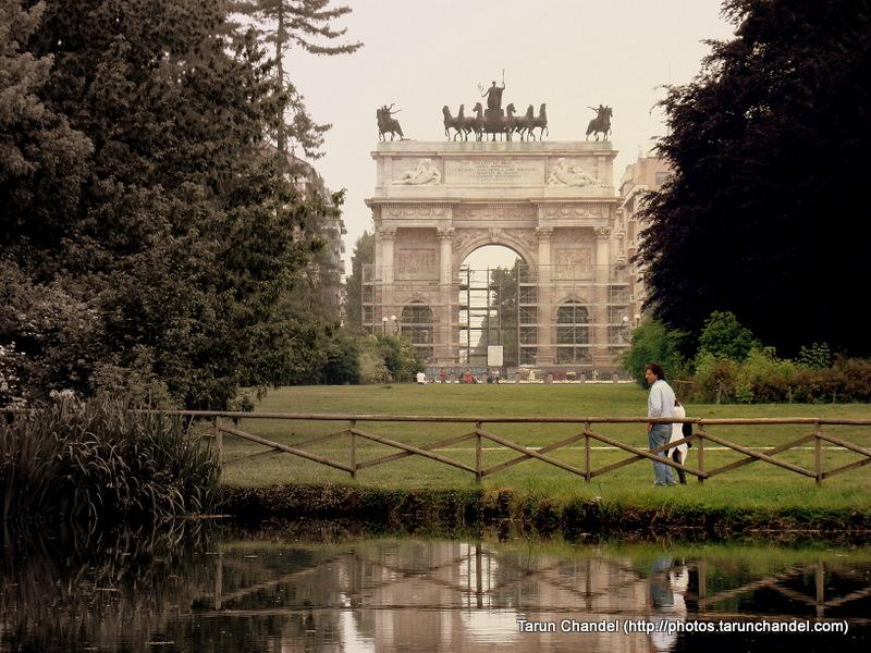 Parco Sempione Park Arco della Pace Arch of Peace Arco Sempione Arch Milan Italy, Tarun Chandel Photoblog
