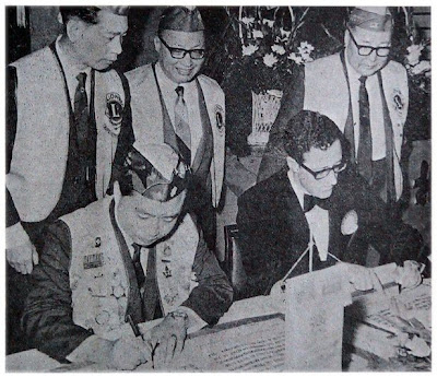Officials signing the Alliance