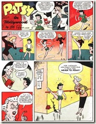 Comic Strip art cartoon girls dancing school Ballet Patsy-in-Hollywood