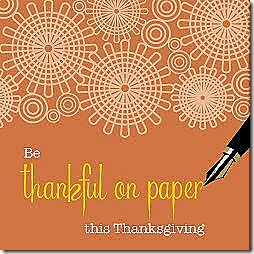 thankful on paper