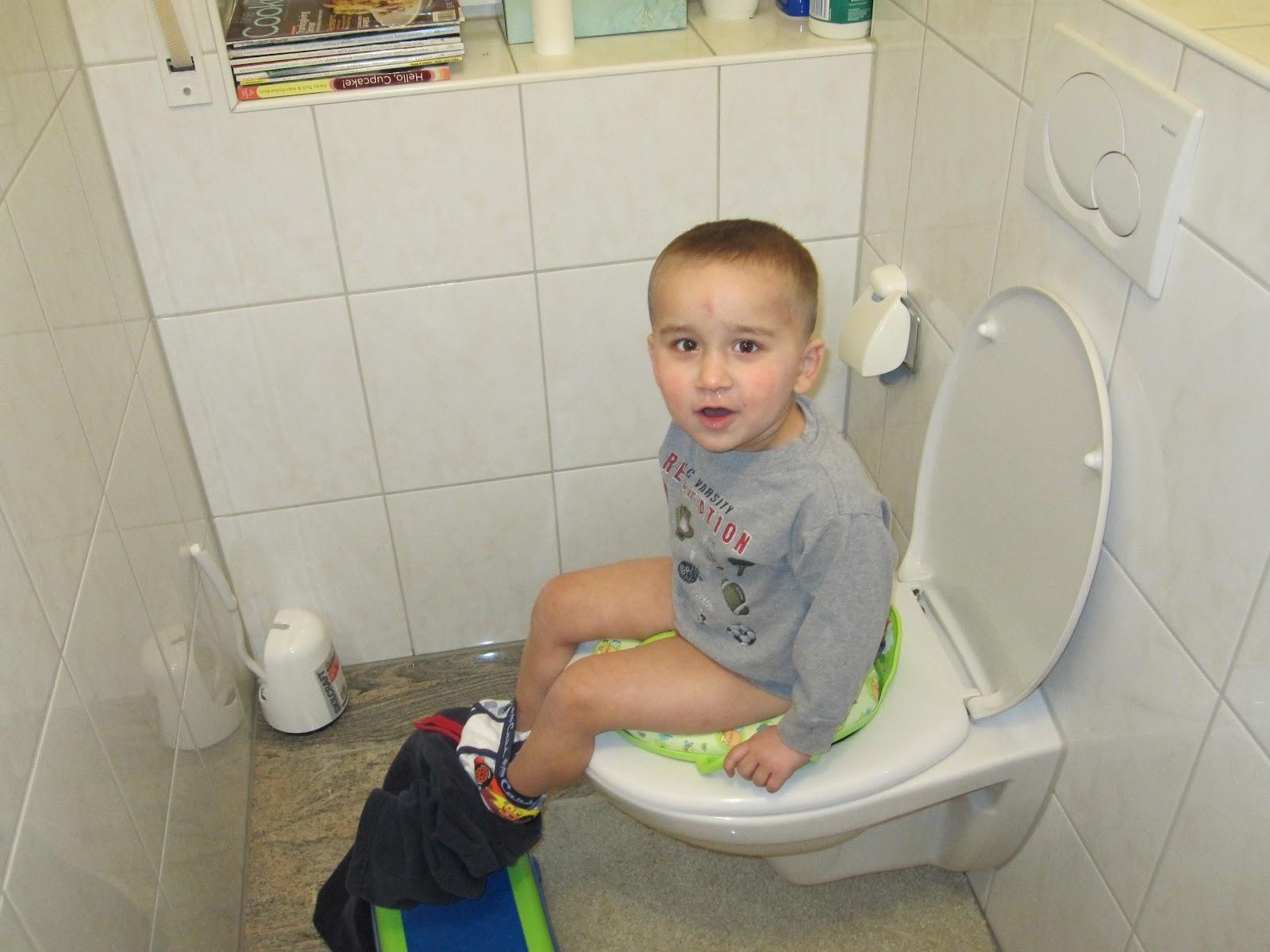 Big boy potty training it was a big success and