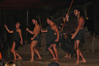 Maori warriors doing a war dance