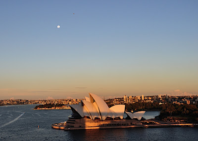 moonrise over Sydney Opera House