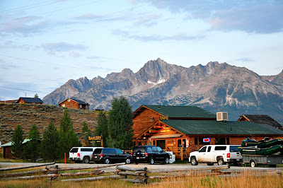 Bakery in Stanley Idaho with Sawtooth Mountains in background