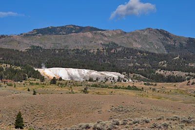 Mammoth Hot Springs, distant view