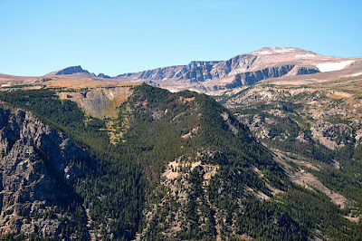 Hellroaring Road and Plateau as seen from Rock Creek Vista on the Beartooth Highway