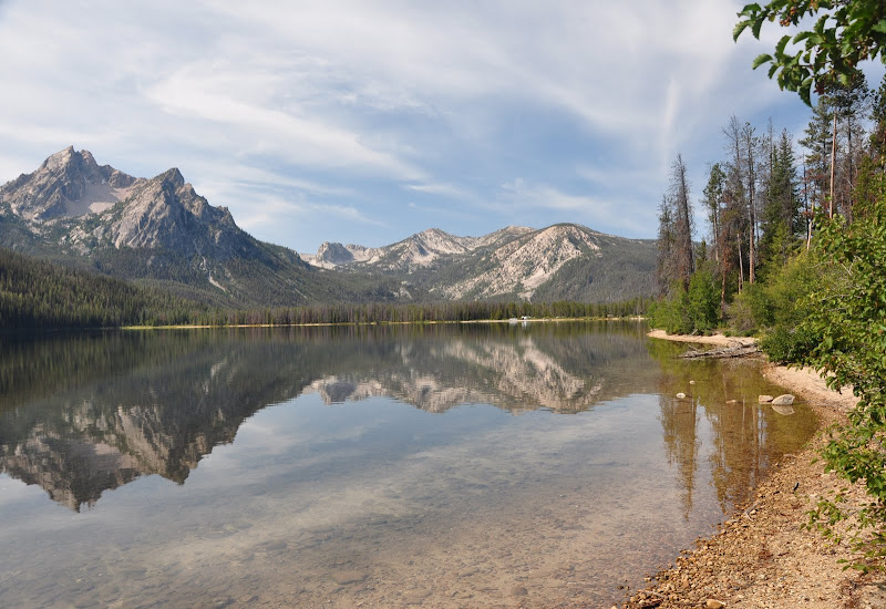 Mt. McGowan reflected in Stanley Lake, Idaho