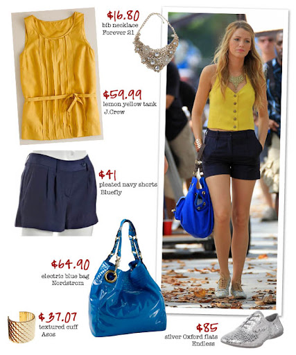 Blake Lively wore lemony yellow on set in Central Park last week - snag her