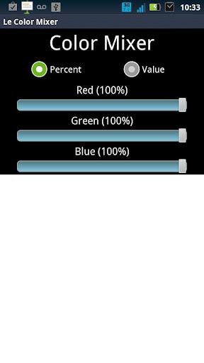 RGB Color Mixer