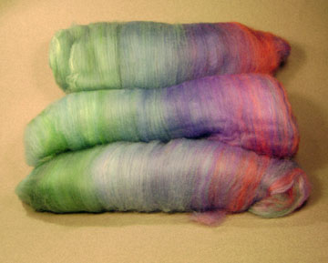 semi rainbow sock batt