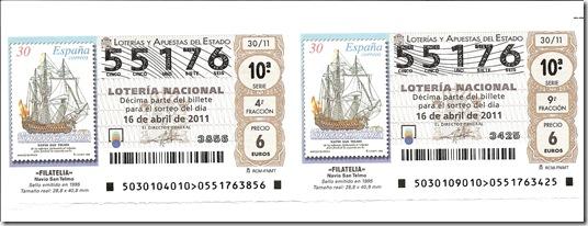 Lotería 16-04-2011