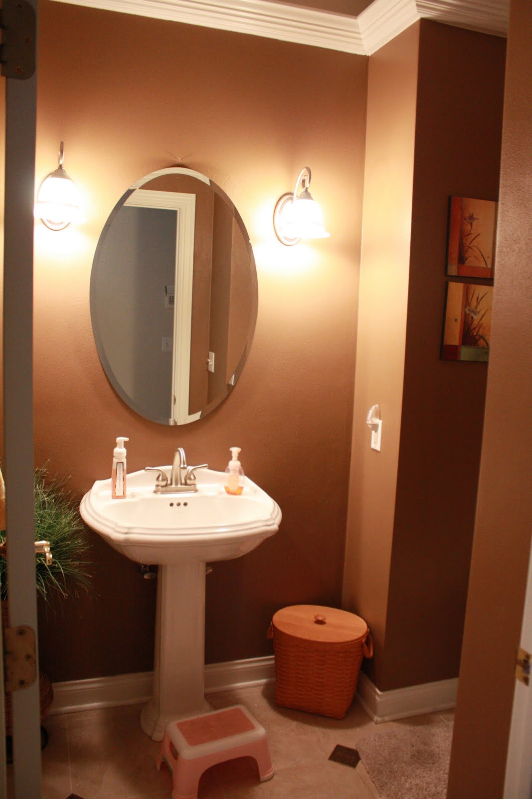 Domestically yours tour my home for Bathroom designs with pictures