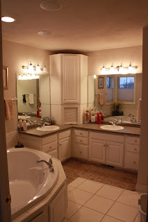 Domestically yours tour my home for Megan u bathroom tour