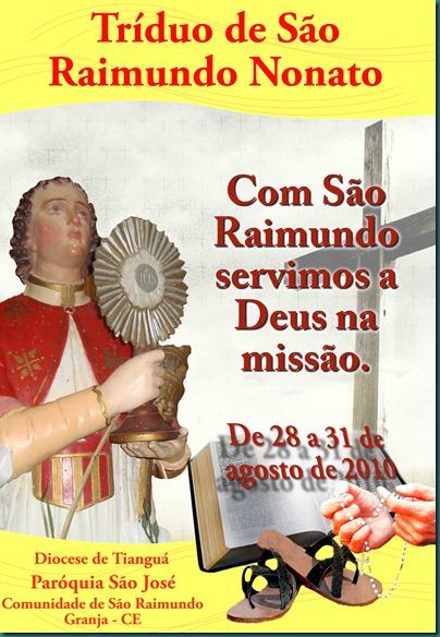 CARTAZ SÃO RAIMUNDO - IMAGEM