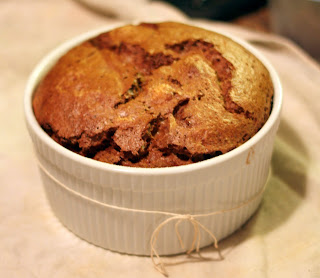 picture of dark chocolate souffle