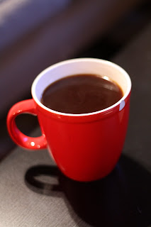 picture of black coffee in red mug
