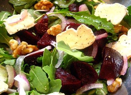 beet brie salad